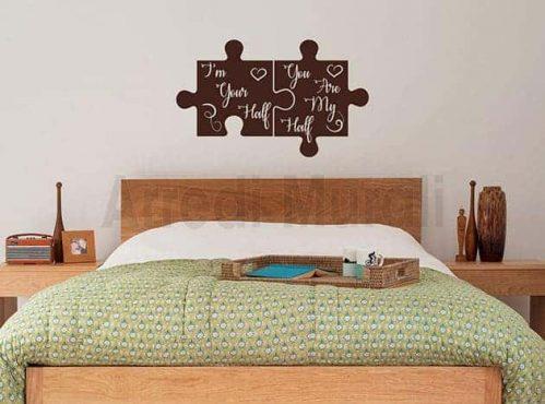 adesivi da parete con frase d'amore decorazioni murali