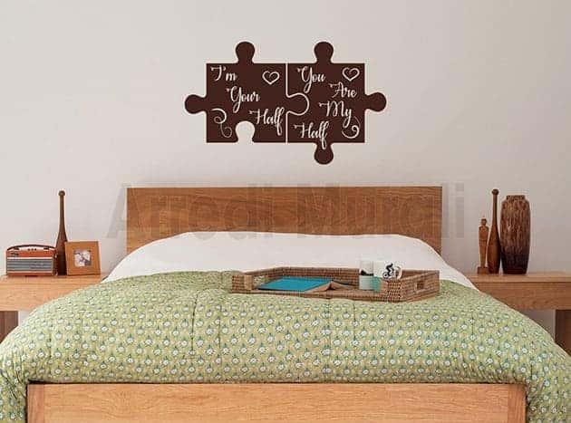 Adesivi murali camera da letto anche personalizzati - Decorazioni da parete ...