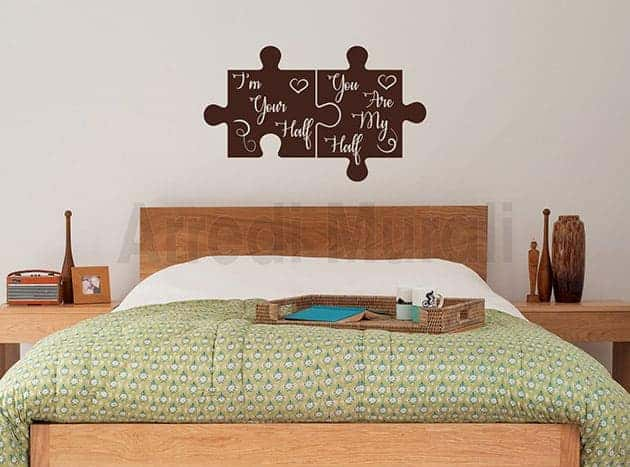 adesivi da parete frasi amore decorazioni murali