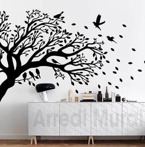 adesivi murali albero decorazioni da parete casa