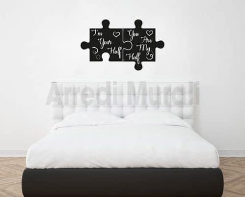 adesivi murali frasi amore decorazioni da parete