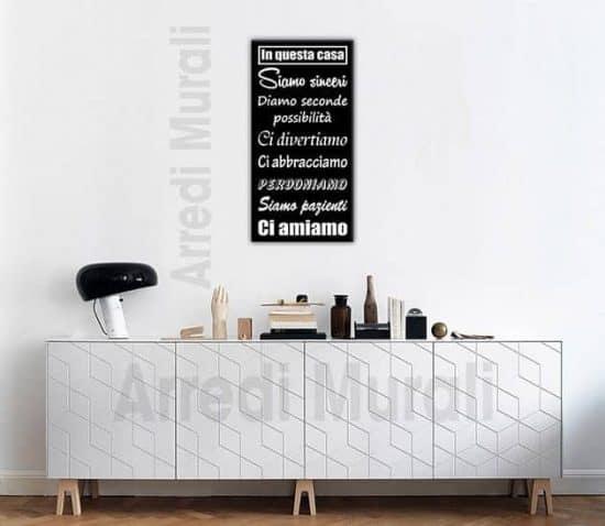 quadro moderno stampa regole della casa arredo