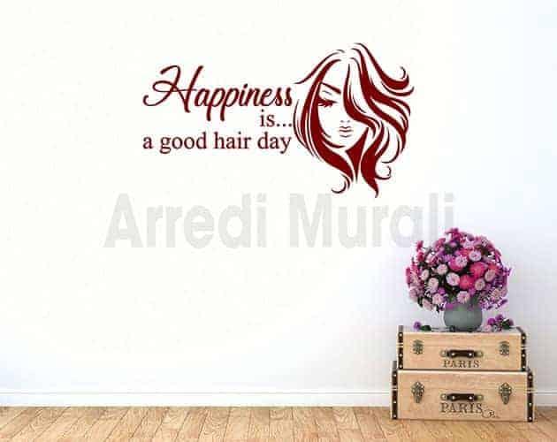 stickers da parete frase parrucchiere donna decorazioni