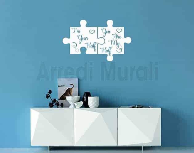 stickers murali frasi amore decorazioni da parete