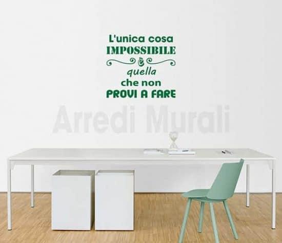 wall stickers frase motivazionale adesivi murali