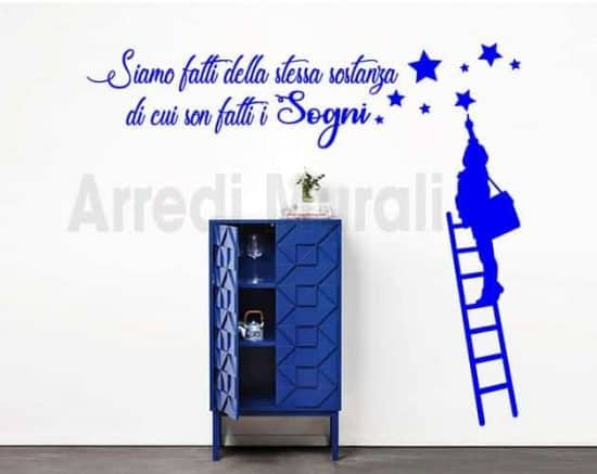 wall stickers frase sogni decorazioni murali