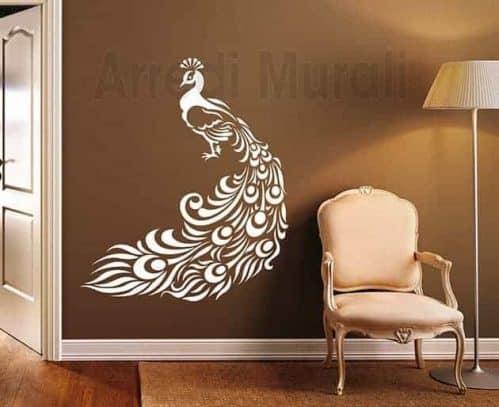 Adesivi da parete pavone decorazioni murali