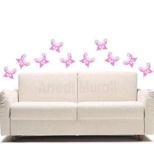 Adesivi murali farfalle decorazioni da parete rosa