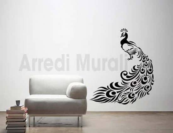 Adesivi murali pavone decorazioni da parete