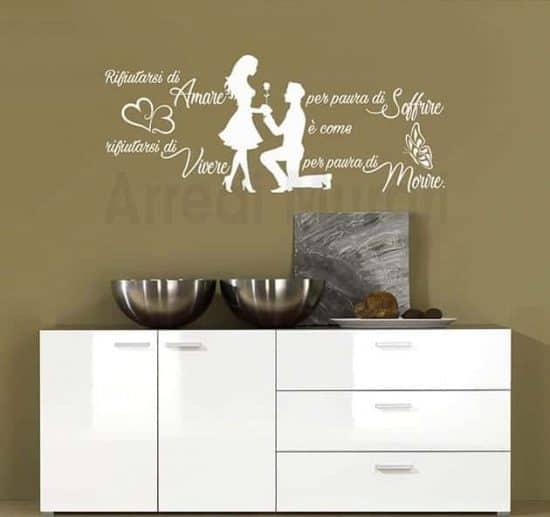 adesivi da muro frase amore Jim Morrison decorazioni