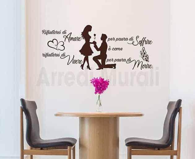 adesivi da parete frase amore Jim Morrison decorazioni