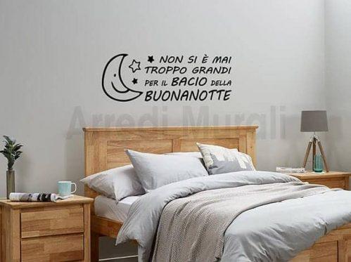 adesivi murali frase buonanotte decorazioni da parete