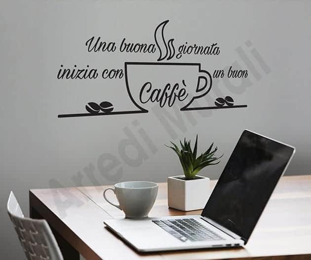 Decorazioni Da Muro.Adesivi Murali Frase Caffe Decorazioni Da Parete Bar Ws1519