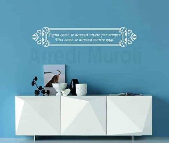 stickers frasi personalizzate decorazioni adesive da parete