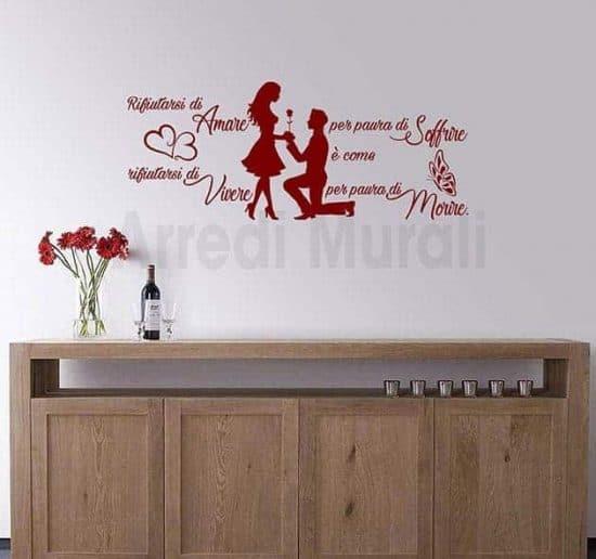 stickers murali frase amore Jim Morrison decorazioni