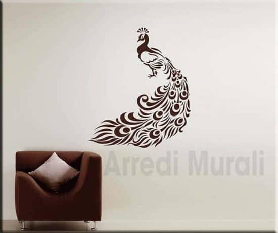 stickers murali pavone decorazioni da parete