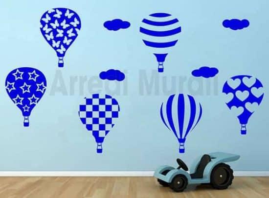 Stickers murali mongolfiere arredo camerette