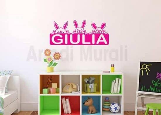 Stickers murali personalizzati camerette bambini