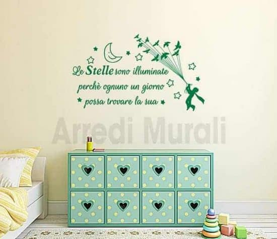 adesivi murali frase stelle il piccolo principe