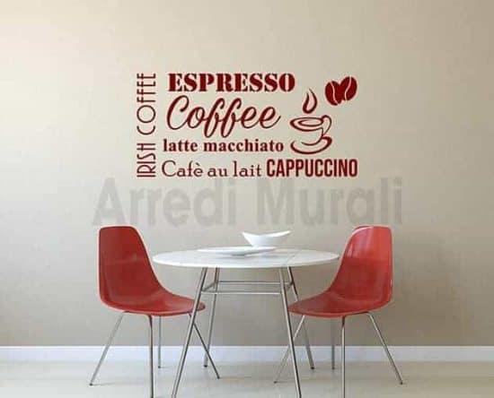 decorazioni da parete bar caffetteria adesivi arredo