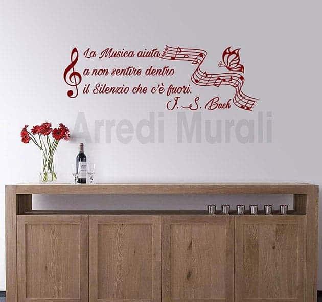 decorazioni da parete frase musica Bach