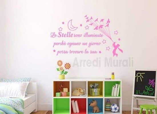 decorazioni da parete frase stelle il piccolo principe