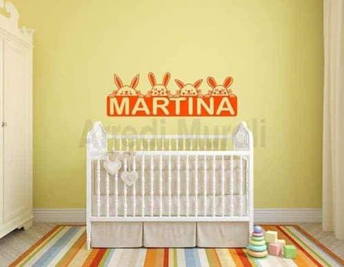 decorazioni da parete personalizzate camerette bambini