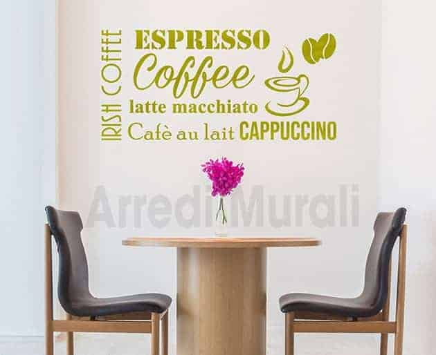 stickers murali bar caffetteria decorazioni arredo