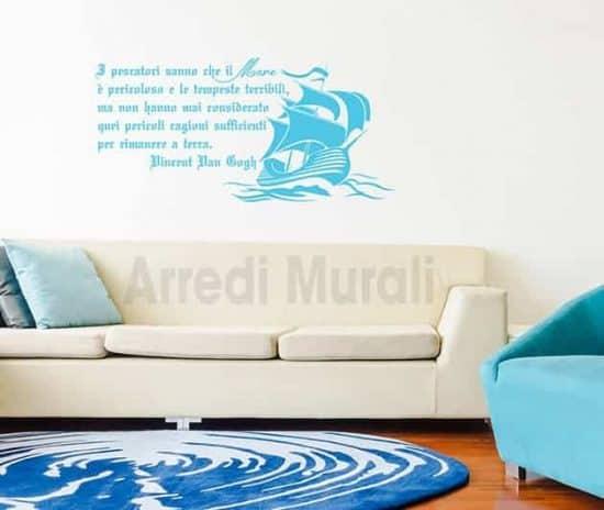 stickers murali frase mare Van Gogh