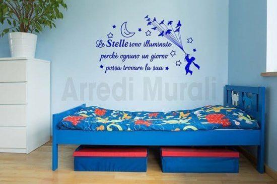 stickers murali frase stelle il piccolo principe