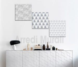 tris quadri moderni stampe digitali 3d