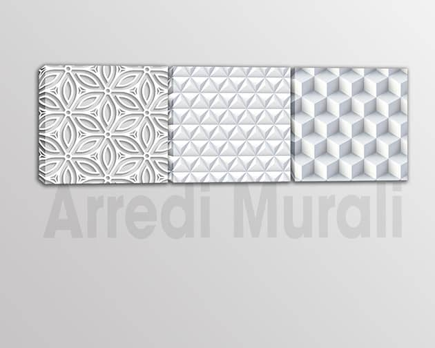 tris quadri moderni stampe effetto 3d