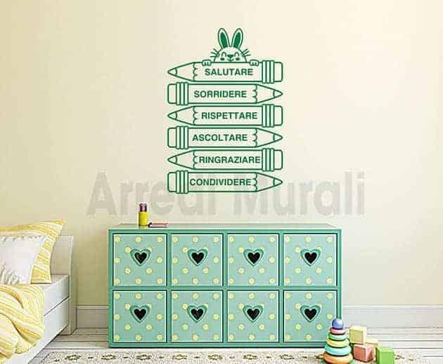 Adesivi da parete bambini decorazioni cameretta