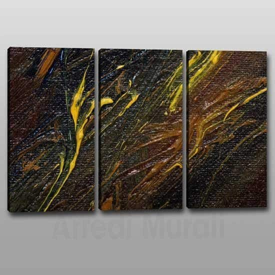 Quadri moderni astratti stampe su tela tris di quadri