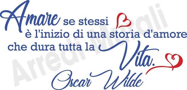 adesivi da parete frase Oscar Wilde