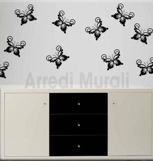 Adesivi murali farfalle disegni adesivi per decorare le for Decorazioni da parete adesive