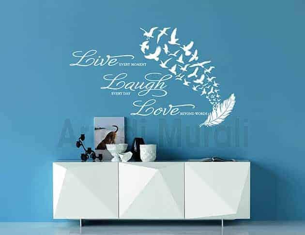 adesivi murali frase vita decorazioni da parete