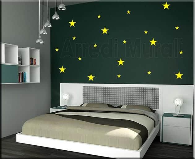 adesivi murali stelle decorazioni da parete