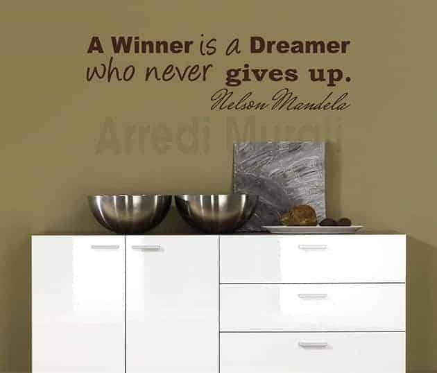 decorazioni da parete frase Nelson Mandela