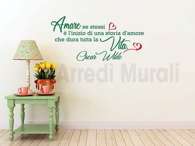 decorazioni da parete frase Oscar Wilde adesivi