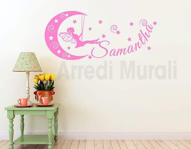 decorazioni da parete nome personalizzato stelle cameretta