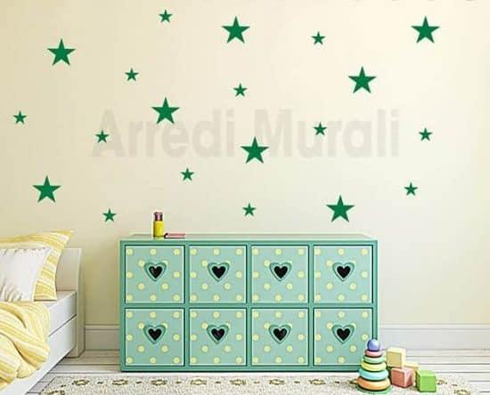 decorazioni da parete stelle adesivi murali