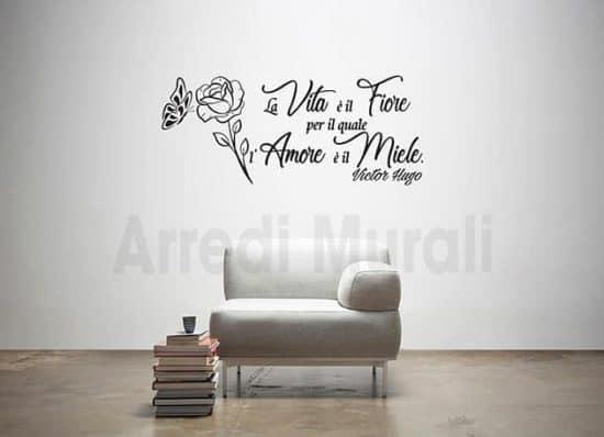 Adesivi murali frase Victor Hugo decorazioni da parete