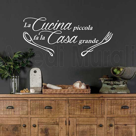 Stickers murali frase cucina bianco