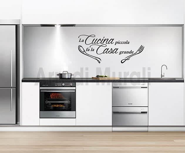 Stickers murali frase cucina decorazioni da parete for Stickers murali cucina