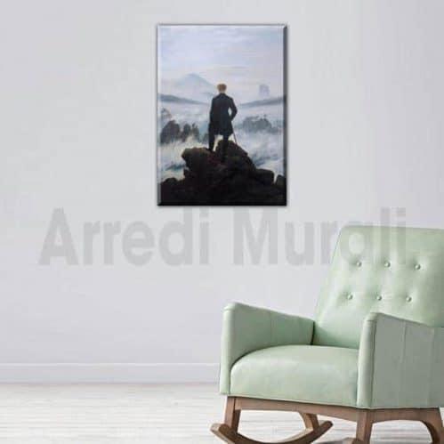 riproduzione quadro Viandante Sul Mare Di Nebbia stampa su tela