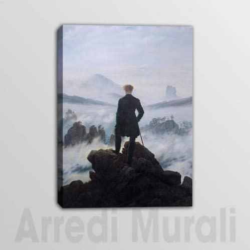 Viandante Sul Mare Di Nebbia quadro moderno riproduzione stampata