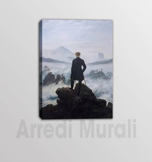 Viandante sul mare di nebbia quadro moderno