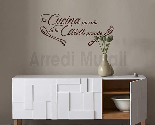 Stickers murali frase cucina decorazioni da parete for Decorazioni da parete adesive