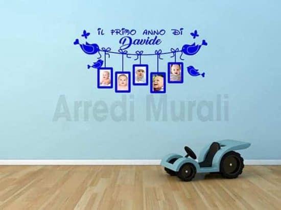 adesivi da parete personalizzati cornici foto bimbi